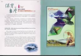 Folder 2005 Conservation Stamps S/s Monkey Bird Frog Circular Mount Fauna Island Ocean - Islands