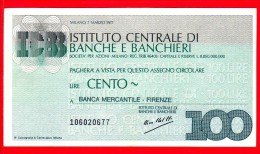MINIASSEGNI -  ISTITUTO CENTRALE BANCHE E BANCHIERI - Usato - IB100070377B - [10] Cheques Y Mini-cheques