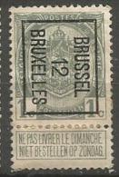 PO 21 (*)  Cadre Brisé  BXL - Typo Precancels 1912-14 (Lion)