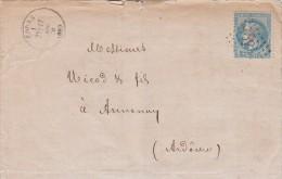 1870, LETTRE , 68 RHONE, GC 1184 COURS Pour ANNONAY   /4513 - Marcophilie (Lettres)