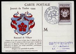 A2578) France Frankreich Maximumkarte Mit Mi.672 Von Laval 9.12.1944 - Cartas Máxima