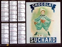 Almanach Du Facteur 2011 Chocolat Suchard Et Culotte Petit Bateau   D880/881 - Big : 2001-...
