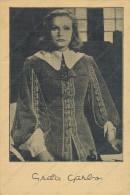 GRETA GARBO, Queen Christina, Actress, MGM, Yugoslavia,  Vintage Old Postcard - Acteurs