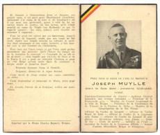 Doodsprentje WO2 Joseph Muylle Reserve Kapitein Commandant Mauthausen 1945 - War 1939-45