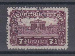 16901 Parlement 7 1/2 Kr Dentelé 11 1/12 Oblitéré. RR! ANK 289 B - 1918-1945 1ère République