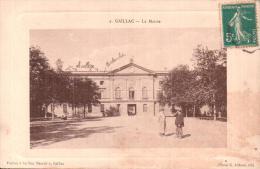 81 GAILLAC LA MAIRIE ANIMEE CIRCULEE 1910 - Gaillac