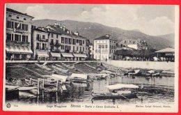 [DC6132] LAGO MAGGIORE - STRESA - PORTO E CORSO RE UMBERTO I - Viaggiata - Old Postcard - Verbania