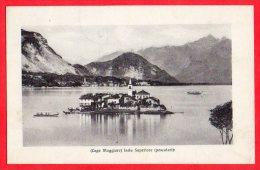 [DC6136] LAGO MAGGIORE - ISOLA SUPERIORE (PESCATORI) - Viaggiata 1912 - Old Postcard - Verbania