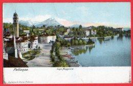 [DC6138] LAGO MAGGIORE - PALLANZA - Viaggiata 1908 - Old Postcard - Verbania