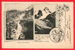 [DC6142] CASCATA DEL RUITHOR - LA FRANDE ASSALY - Viaggiata - Old Postcard - Italia