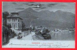 [DC6144] LAGO MAGGIORE - CANNOBIO - Viaggiata 1904 - Old Postcard - Verbania