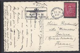 YOUGOSLAVIE -  1935 -  TIMBRE ALEXANDRE 1er SUR BELLE C. P. A. - CORRESPONDANCE DE BELGRADE POUR BAIXAS -P.O - FR - - Brieven En Documenten