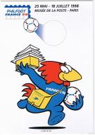 FRANCE 1998  PHILFOOT CARTE ENTIER POSTAL  TBE - Calcio