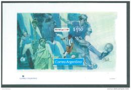 Argentina, 1994, World Cup Football In USA,   Miniature Sheet,   MNH, (**) - World Cup