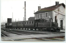 LAROCHE (chemins De Fer De L´Yonne) -La Gare (photo  Laurent Format Carte Ancienne) - Stations With Trains