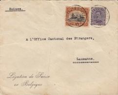 Légation De Suisse En Belgique, Bruxelles / Office Cantonal Des étrangers Lausanne + 6 Lettres - Belgium