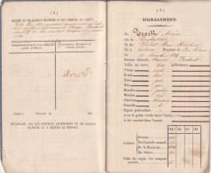 Armée Belge 1839 Livret Militaire De Trock Adrien De Bierges 9e Régiment D' Infanterie De Ligne RARE - Documents