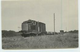 Près De LAROCHE (chemins De Fer De L´Yonne) -  Train De Marchandise ( Photo  Format Carte Ancienne) - Stations With Trains