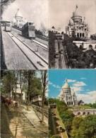 PARIS (75) LE FUNICULAIRE DE MONTMARTRE Lot De 8 CPM - Funicular Railway