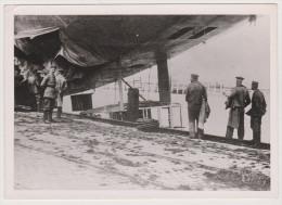 Ostende, Zerstörter Zeppelin, Hafen, Matrosen, Soldaten, WKI - Aviation