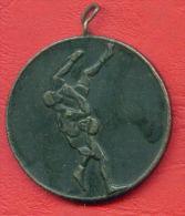 M3 / CU Of  UNION DEAF -  3st Prize -  SPORT Wrestling , Lutte , Ringen Medal Médaille Medaille Bulgaria Bulgarie - Jetons En Medailles