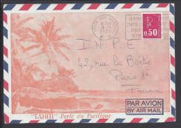 POLYNESIE FRANCAISE - 1971 -  CORRESPONDANCE MILITAIRE -  LETTRE POUR PARIS - - Polynésie Française