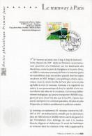 """2006 : Notice Officielle 1er Jour """" LE TRAMWAY A PARIS """". N° YT 3995. Parfait état - Tramways"""