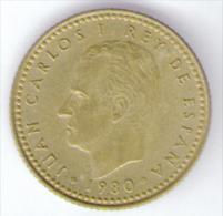 SPAGNA 1 PESETA 1980 - [ 5] 1949-… : Royaume
