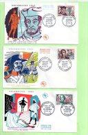 1° Jour, Yvert N° 1370 / 5,  AMYOT, MEHUL, MARIVAUX, VAUQUELIN, DAVIEL, VIGNY - 1960-1969