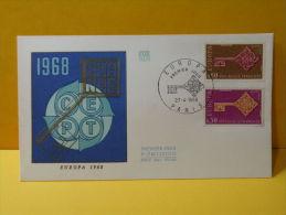 FDC- Europa CEPT 1968 - Paris - 27.4.1968 - 1er Jour - Europa-CEPT