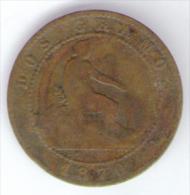 SPAGNA 2 CENTIMOS 1870 - [ 1] …-1931 : Regno