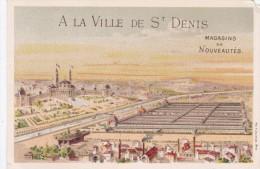 ANCIENNE IMAGE CHROMO CHROMOS PUB PARIS A LA VILLE DE SAINT-DENIS BEAU VISUEL PANORAMA - Non Classificati