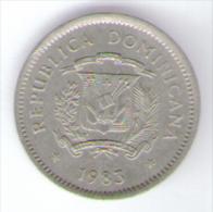 DOMINICANA 10 CENTAVOS 1983 - Dominicana