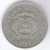 DOMINICANA 1/2 MEDIO PESO 1989 - Dominicana