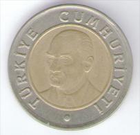 TURCHIA 1 NEW LIRA 2005 BIMETALLICA - Turchia