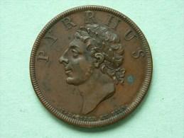 PYRRHUS Of EPIRUS - 18th Century Medal By DASSIER ! - France