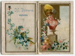 CALENDARIETTO DA BARBIERE M. PATRIARCA CATANIA ANNO 1890 - Calendari