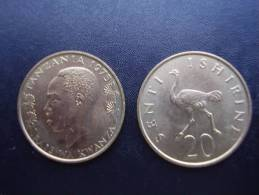 TANZANIA 1975 TWENTY CENTS NYERERE Nickel-brass UNCIRCULATED COIN.. - Tanzanie