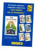 Carton Presentation Vente Carte Fable De La Fontaine Theme Tortue Grenouille  Renard Etc - Documentos Del Correo