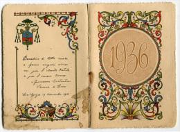 CALENDARIETTO BEATO ANGELICO LUNI LA SPEZIA ANNO 1936 CALENDRIER - Klein Formaat: 1921-40