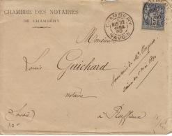 Savoie -CAD Chambéry  -A1 - 90  - 1890 - Marcofilia (sobres)