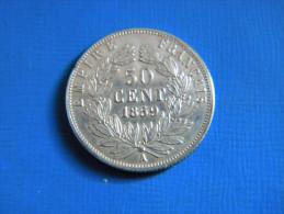 FRANCE - 50 CENTIMES NAPOLEON III . 1859 A. SUPERBE. - Francia