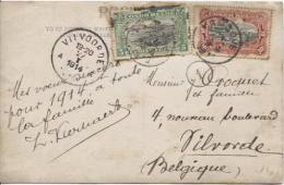 TP 54-55 S/CP C.Kimbové En 1914 V.Vilvoorde C.d'arrivée TP Tropicalisés PR459