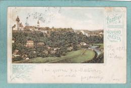 POZDRAV  Z  NOVEHO  MESTA   R / METUSI  -  1901   -  CARTE  PRECURSEUR  - - Tchéquie