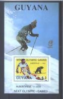"""Guyana 2050FA **   (MNH)    FEUILLET  (Rare)    """"Albertville-1992"""" - Winter 1992: Albertville"""