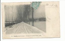 LANTY (52) Entrée Par La Route Noire Sous La Neige - Autres Communes