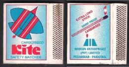 PAKISTAN MATCH BOX Labels Large Size - KITE - Matchbox Labels