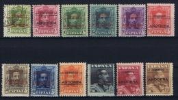 Andora Spanish, 1928, Mi 1-12 MH/*  2c Is Used, 10 PTS Is MNH/** - Spaans-Andorra