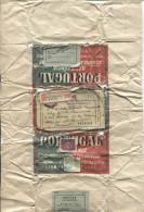 Enveloppe D´un Colis De Sardines Envoyée De Lisboa V.Bruxelles étiquette De Recom.belge PR462 - 1910-... Republic
