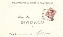 CENT.2 CONGREGAZIONE DI CARITA' DI CASTELBALDO - Marcophilia